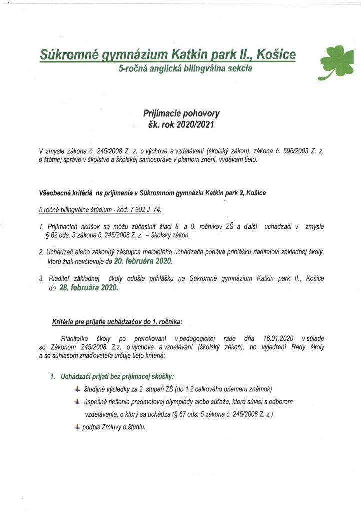 Kritériá PP bilingválne 2020_2021
