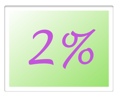 2 percenta pre Katkin park
