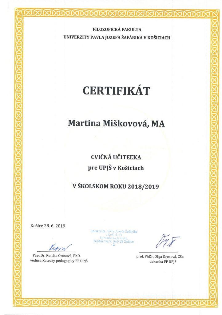 UPJS certifikat1
