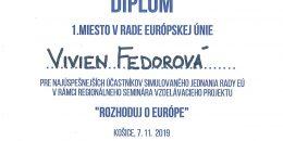 Vivien Fedorová - diplom