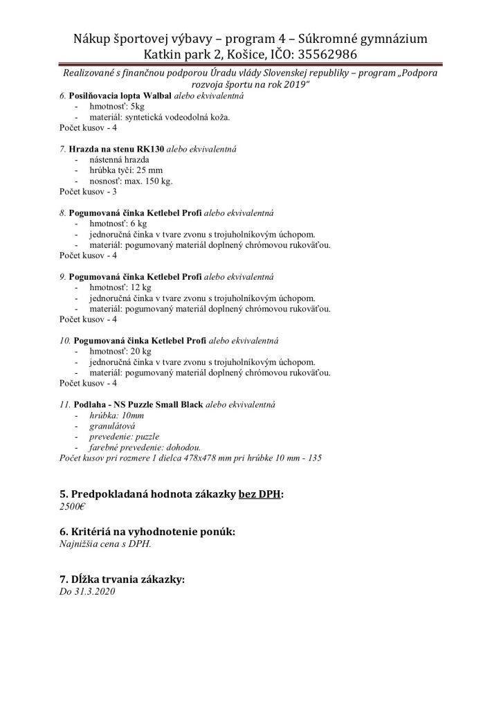 FINAL vyzva-na-predkladanie-ponuk - modernizácia školskej posilňovne Súkromné gymnázium Katkin park 2 Košice (002)