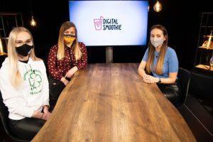 Naša Terka počas natáčania relácie Digital Smoothie, v ktorej rozprávala o svojom pôsobení v Digital League.